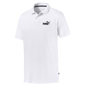 Thumbnail 4 of Essential Short Sleeve Men's Polo Shirt, Puma White, medium