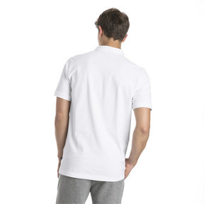 Thumbnail 2 of Essential Short Sleeve Men's Polo Shirt, Puma White, medium