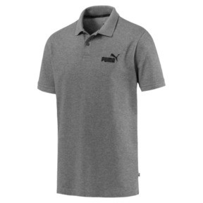 Thumbnail 4 of Essential Short Sleeve Men's Polo Shirt, Medium Gray Heather, medium