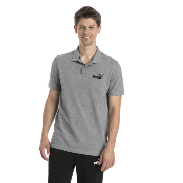 Polo Essentials Piqué pour homme, Medium Gray Heather, large