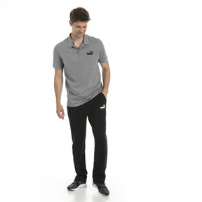 Thumbnail 3 of Essential Short Sleeve Men's Polo Shirt, Medium Gray Heather, medium