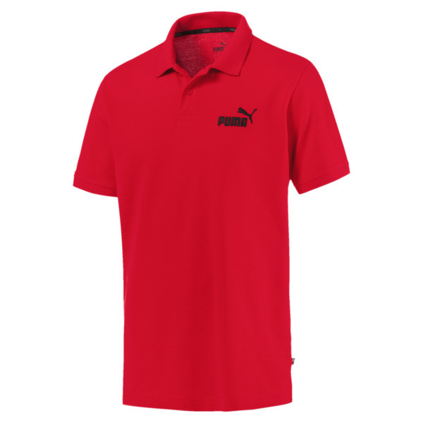 Essentials Men's Pique Polo, Puma Red, large