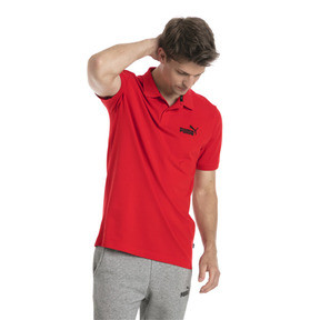 Thumbnail 1 of Essential Short Sleeve Men's Polo Shirt, Puma Red, medium