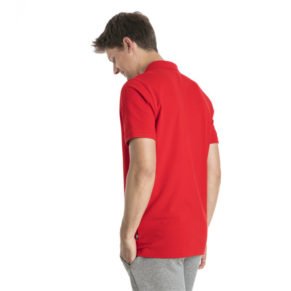 Essential Short Sleeve Men's Polo Shirt, Puma Red, large