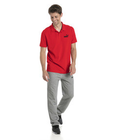 Thumbnail 3 of Essential Short Sleeve Men's Polo Shirt, Puma Red, medium
