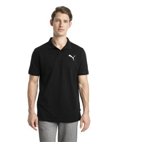 Thumbnail 1 of Essential Short Sleeve Men's Polo Shirt, Cotton Black-_Cat, medium