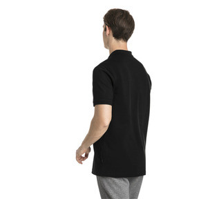 Thumbnail 2 of Essential Short Sleeve Men's Polo Shirt, Cotton Black-_Cat, medium