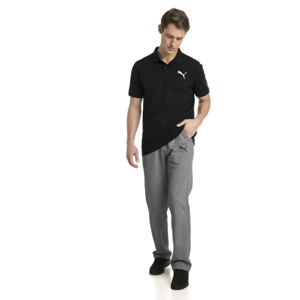 Polo Essentials Piqué pour homme, Cotton Black-_Cat, large