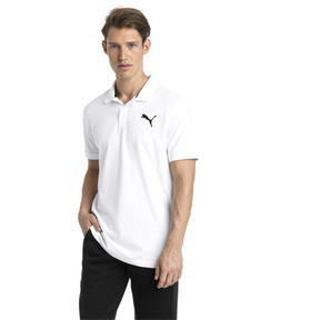 Thumbnail 1 of Essential Short Sleeve Men's Polo Shirt, Puma White-_Cat, medium