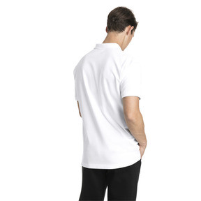 Thumbnail 2 of Essential Short Sleeve Men's Polo Shirt, Puma White-_Cat, medium