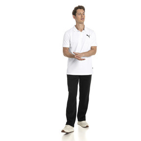Thumbnail 3 of Essential Short Sleeve Men's Polo Shirt, Puma White-_Cat, medium
