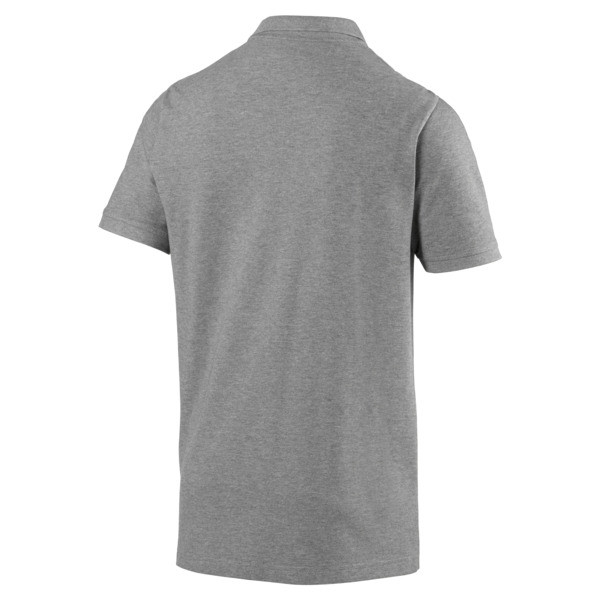 Polo Essentials Piqué pour homme, Medium Gray Heather-_Cat, large