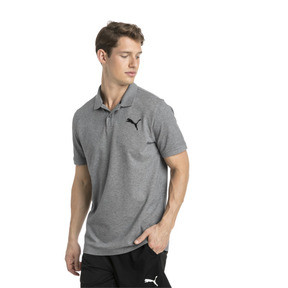 Thumbnail 1 of Essential Short Sleeve Men's Polo Shirt, Medium Gray Heather-_Cat, medium