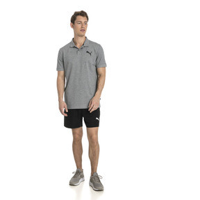 Thumbnail 3 of Polo Essentials Piqué pour homme, Medium Gray Heather-_Cat, medium