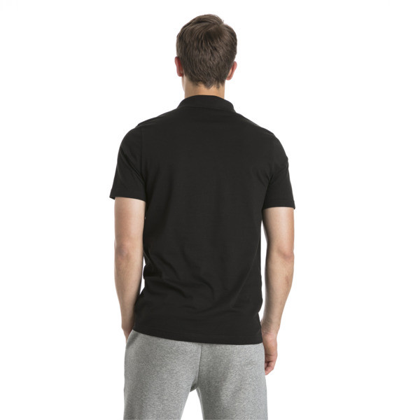 Polo Essentials Jersey pour homme, Cotton Black, large
