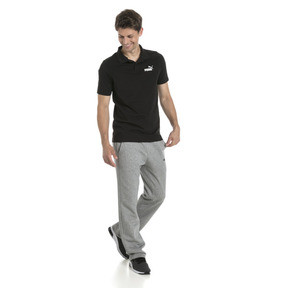 Thumbnail 3 of Essentials Men's Jersey Polo, Cotton Black, medium