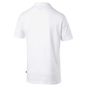 Thumbnail 4 of Essentials Men's Jersey Polo, Puma White, medium