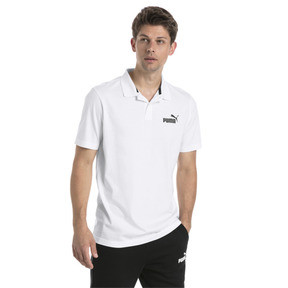 Thumbnail 2 of Essentials Men's Jersey Polo, Puma White, medium