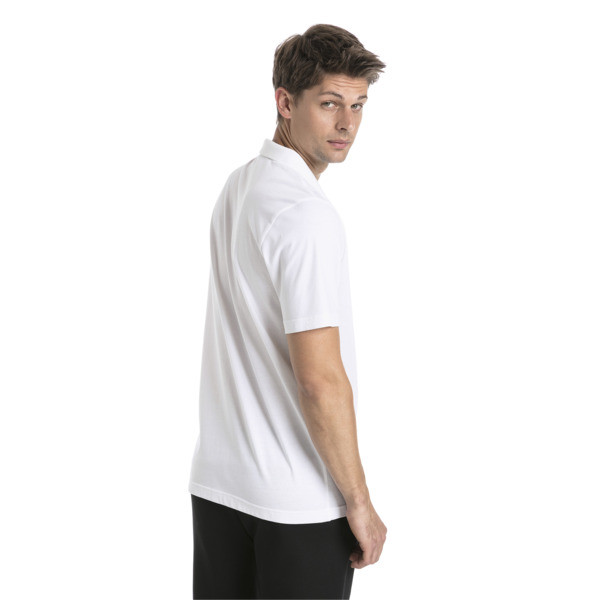 Essentials Men's Jersey Polo, Puma White, large