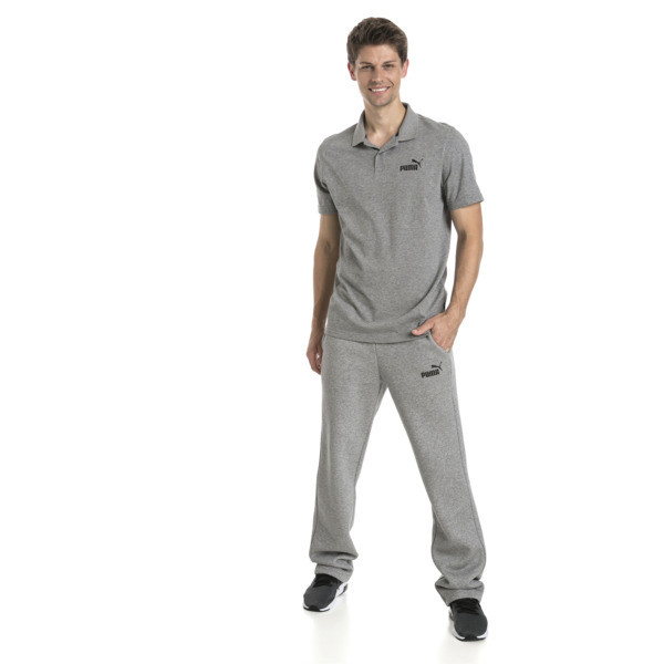 Męska koszulka polo Essential z dżerseju, Medium Gray Heather, obszerny