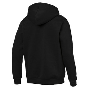 Thumbnail 3 of Essentials Men's Hooded Fleece Jacket, Puma Black, medium