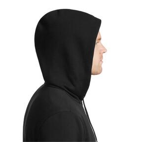 Thumbnail 4 of Essentials Men's Hooded Fleece Jacket, Puma Black, medium