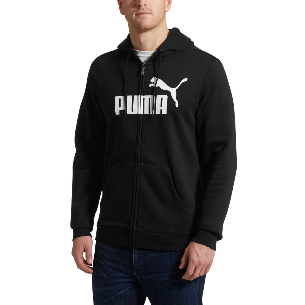 Image Puma Essentials Fleece Hooded Full Zip Men's Sweat Jacket #2