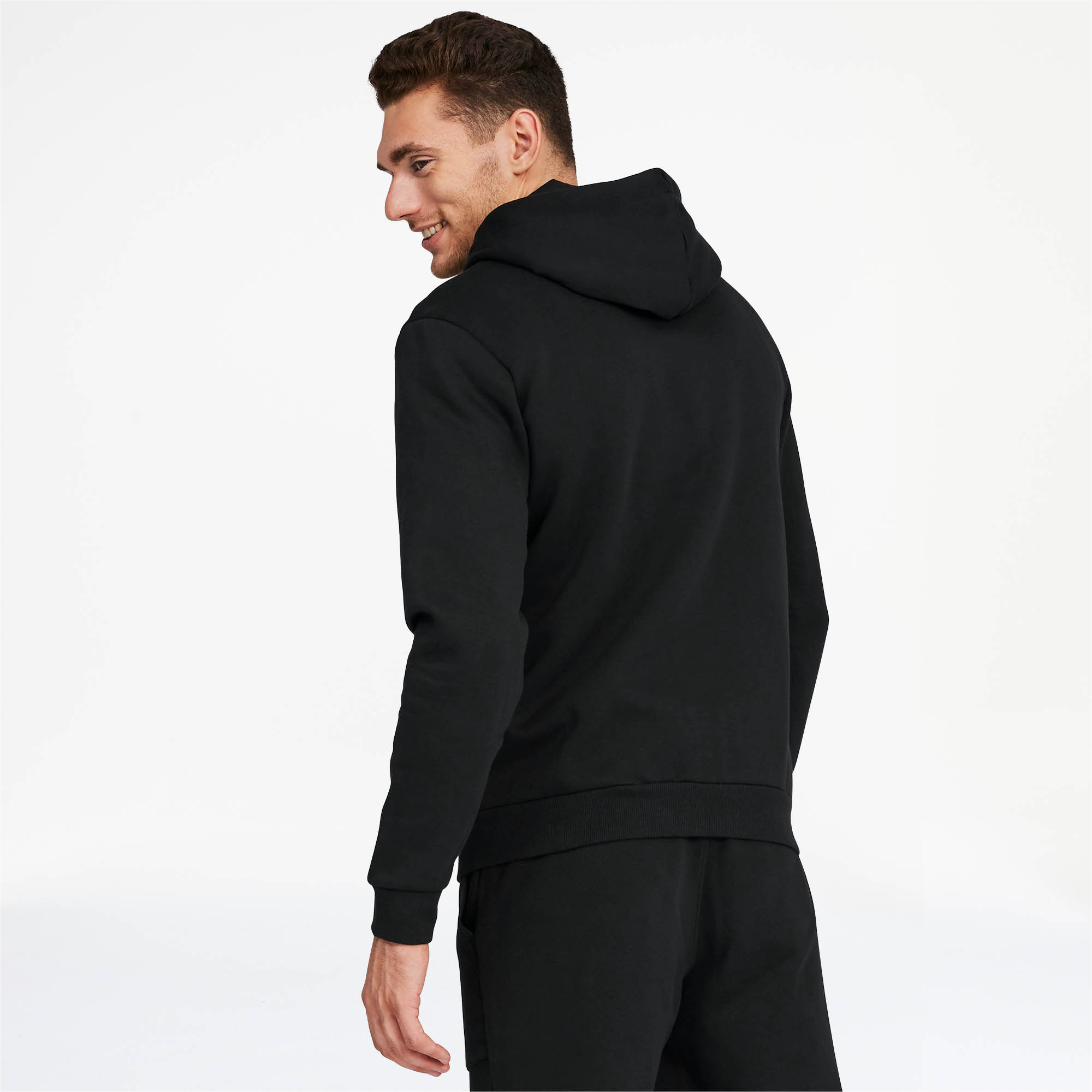 PUMA-Essentials-Men-039-s-Hooded-Fleece-Logo-Jacket-Men-Sweat-Basics thumbnail 5