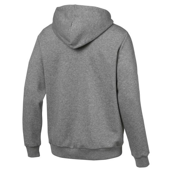 Essentials Men's Hooded Fleece Logo Jacket, Medium Gray Heather, large
