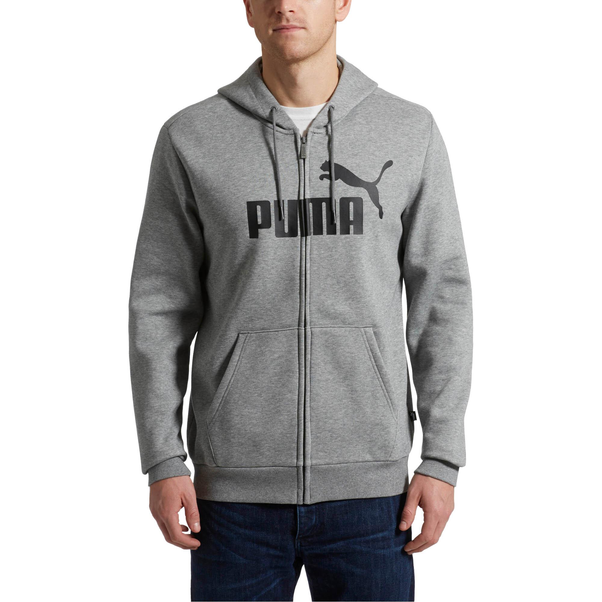 Image Puma Essentials Fleece Hooded Full Zip Men's Sweat Jacket #1