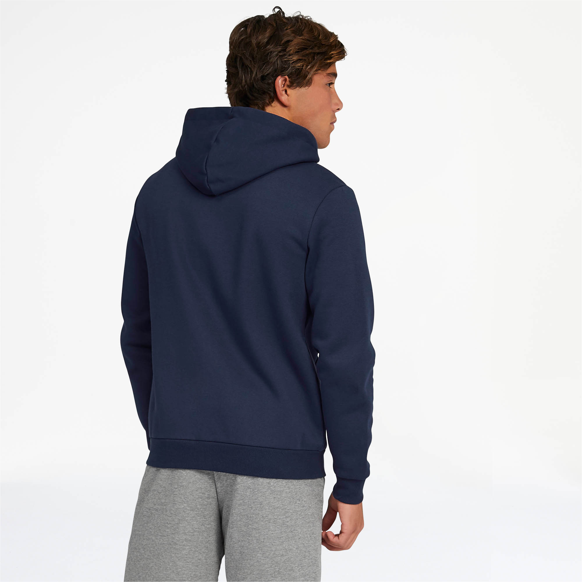 PUMA-Essentials-Men-039-s-Hooded-Fleece-Logo-Jacket-Men-Sweat-Basics thumbnail 15