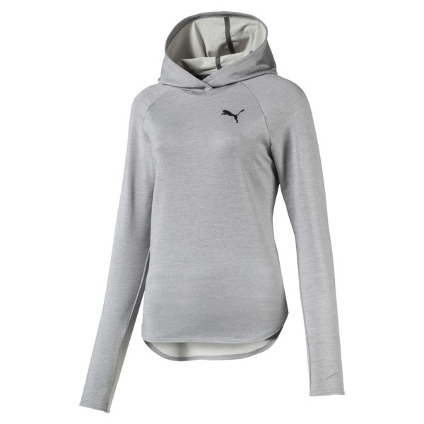 Women's Active Hoodie, Light Gray Heather, large
