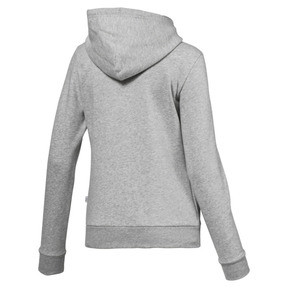 Thumbnail 5 of Essentials Damen Fleece Hoodie, Light Gray Heather, medium