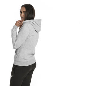 Thumbnail 2 of Essentials Damen Fleece Hoodie, Light Gray Heather, medium