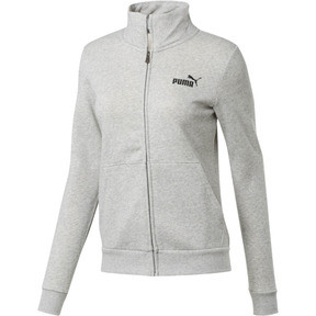 Thumbnail 1 of Essentials Women's Fleece Track Jacket, Light Gray Heather, medium