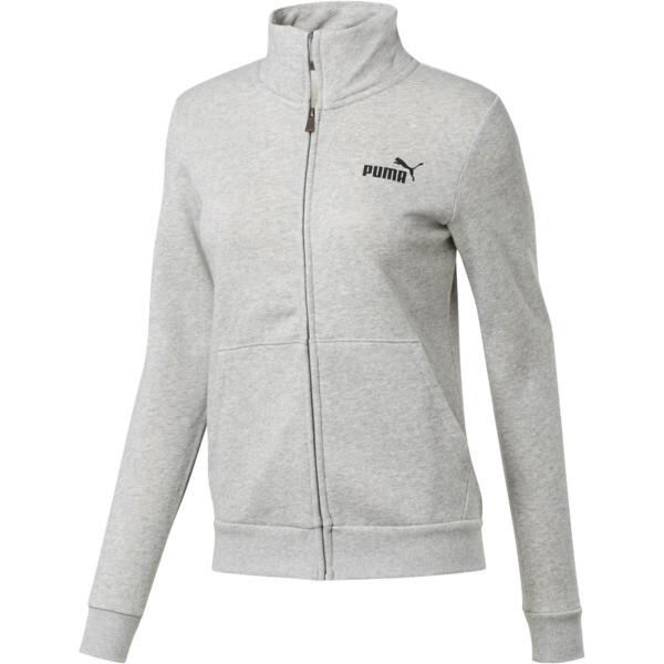 Essentials Women's Fleece Track Jacket, Light Gray Heather, large
