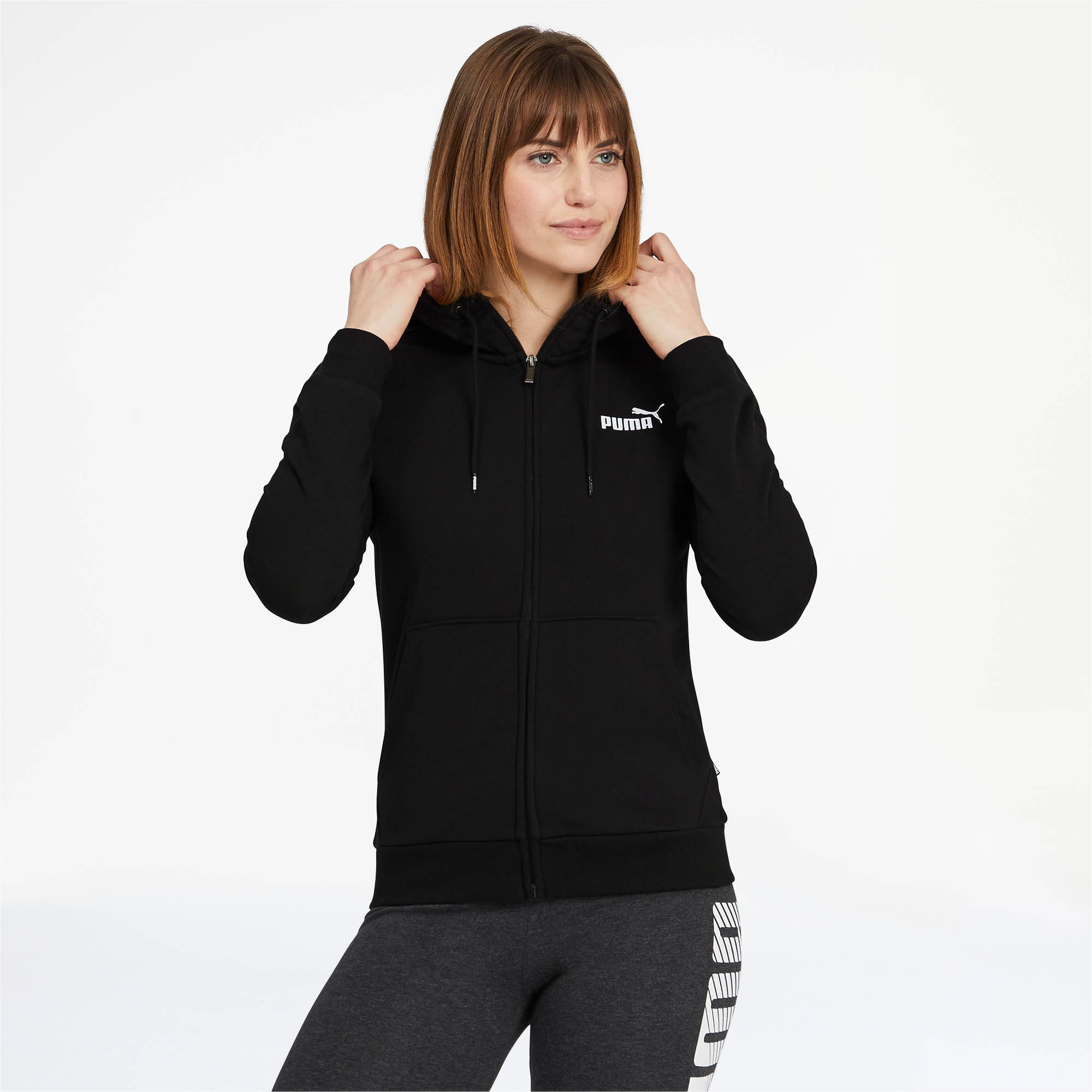 PUMA-Women-039-s-Essentials-Hooded-Jacket thumbnail 7