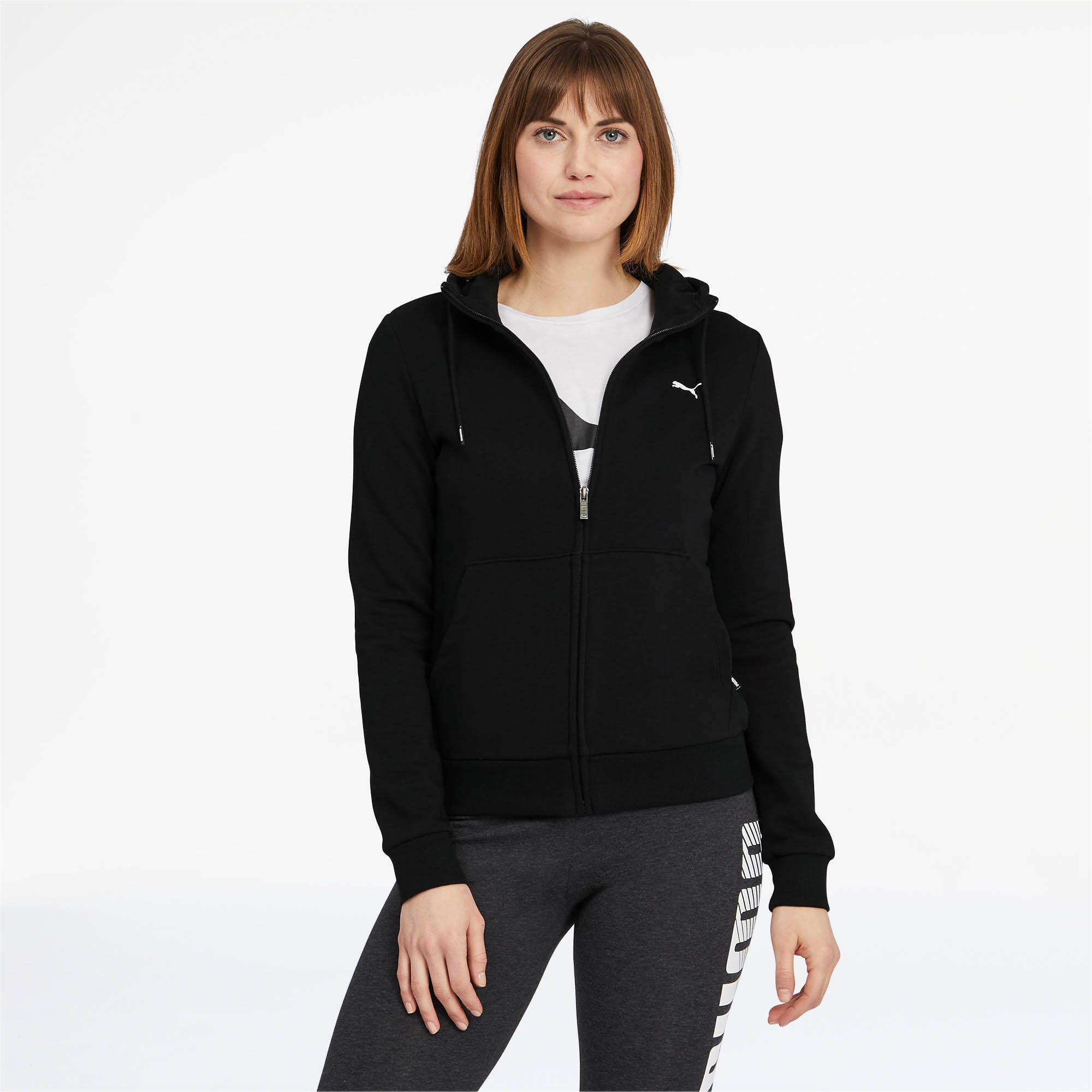 PUMA-Women-039-s-Essentials-Hooded-Jacket thumbnail 3