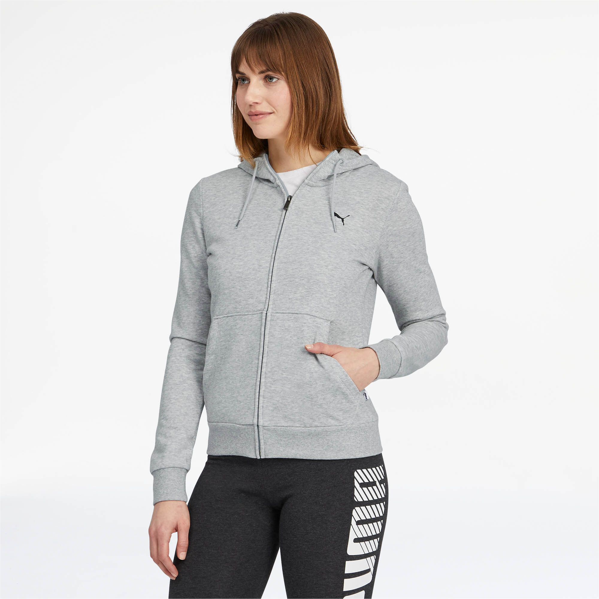 PUMA-Women-039-s-Essentials-Hooded-Jacket thumbnail 11