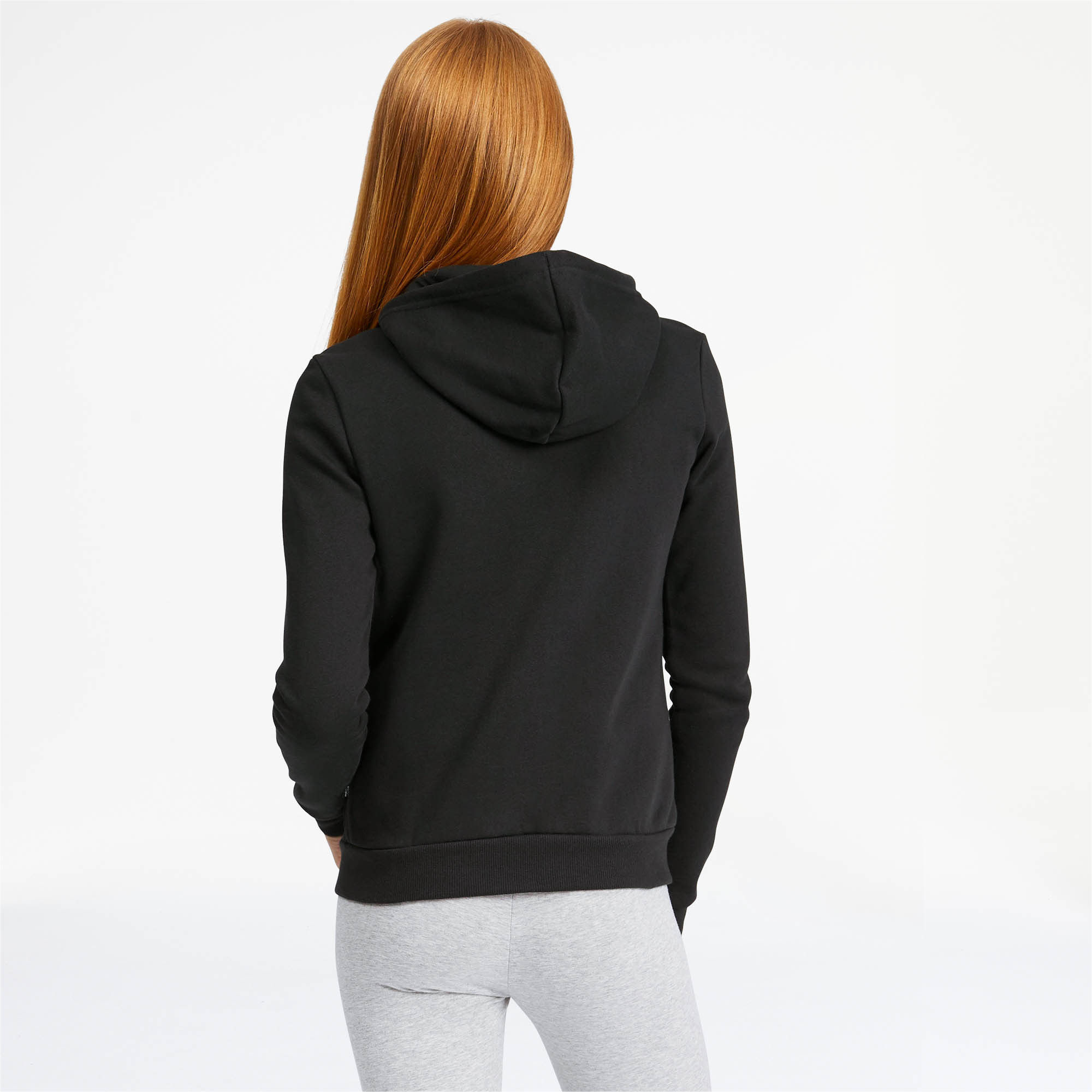 PUMA-Women-039-s-Essential-Fleece-Hooded-Jacket-Women-Sweat-Basics thumbnail 5