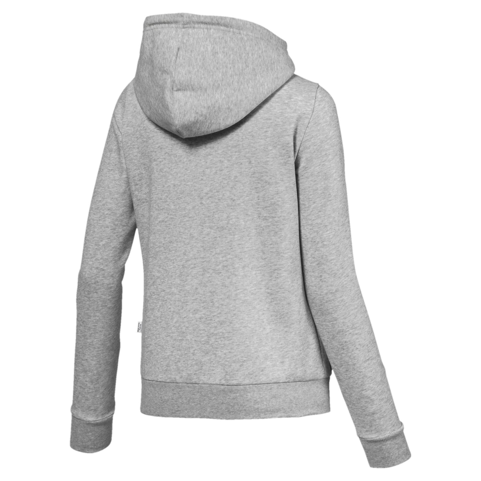Image Puma Essentials Fleece Hooded Full Zip Women's Sweat Jacket #3