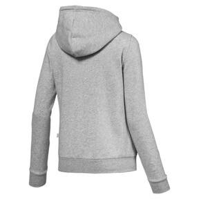 Thumbnail 3 of Women's Essential Fleece Hooded Jacket, Light Gray Heather, medium