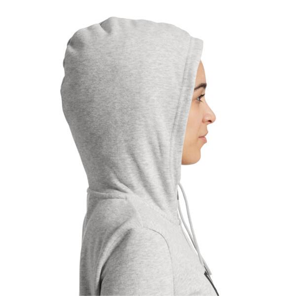 Women's Essential Fleece Hooded Jacket, Light Gray Heather, large