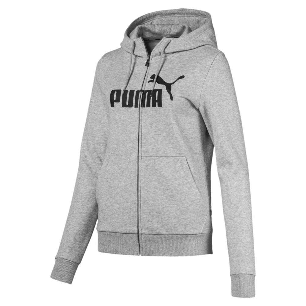 Image Puma Essentials Fleece Hooded Full Zip Women's Sweat Jacket #1