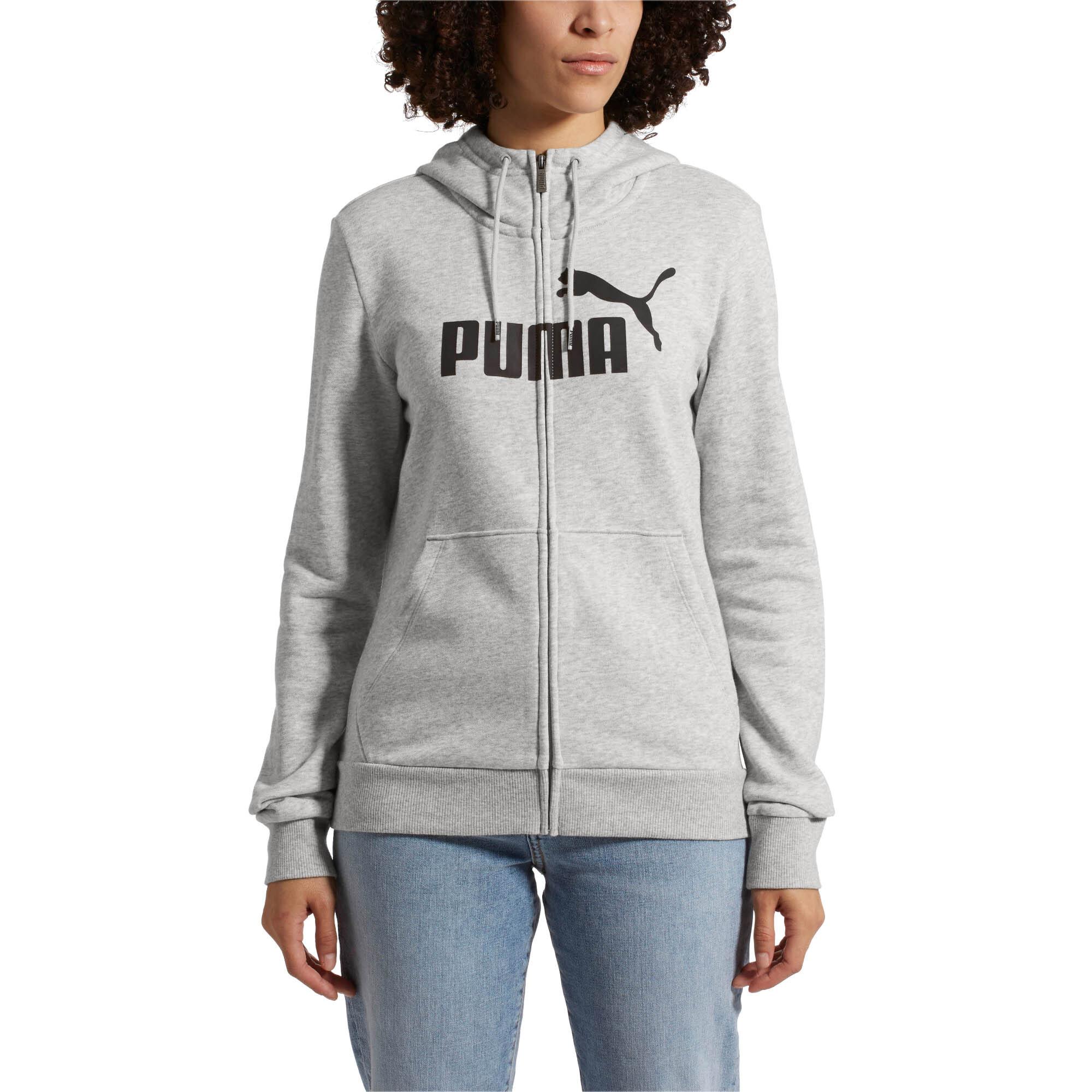 Image Puma Essentials Fleece Hooded Full Zip Women's Sweat Jacket #1