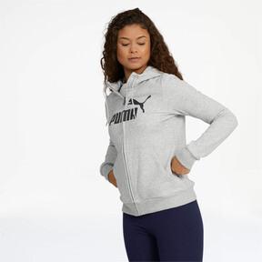 Thumbnail 1 of Women's Essential Fleece Hooded Jacket, Light Gray Heather, medium
