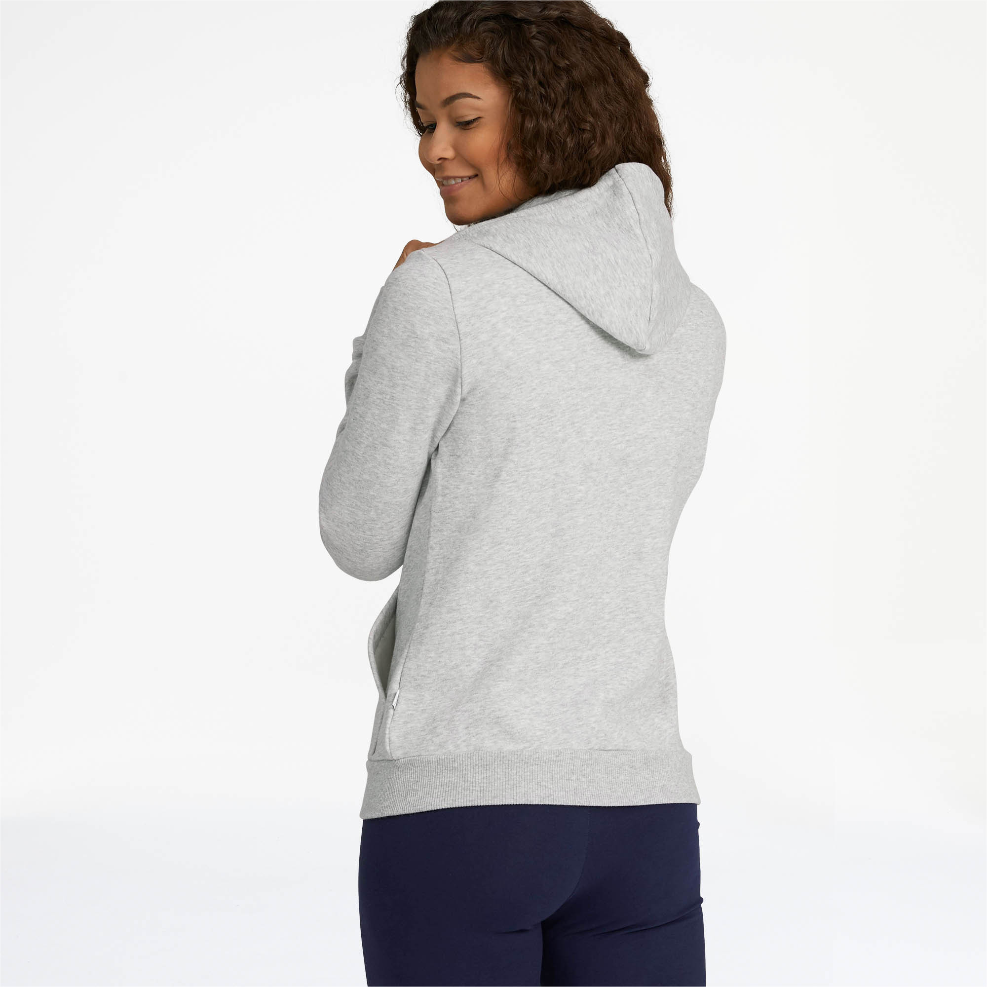 PUMA-Women-039-s-Essential-Fleece-Hooded-Jacket-Women-Sweat-Basics thumbnail 11