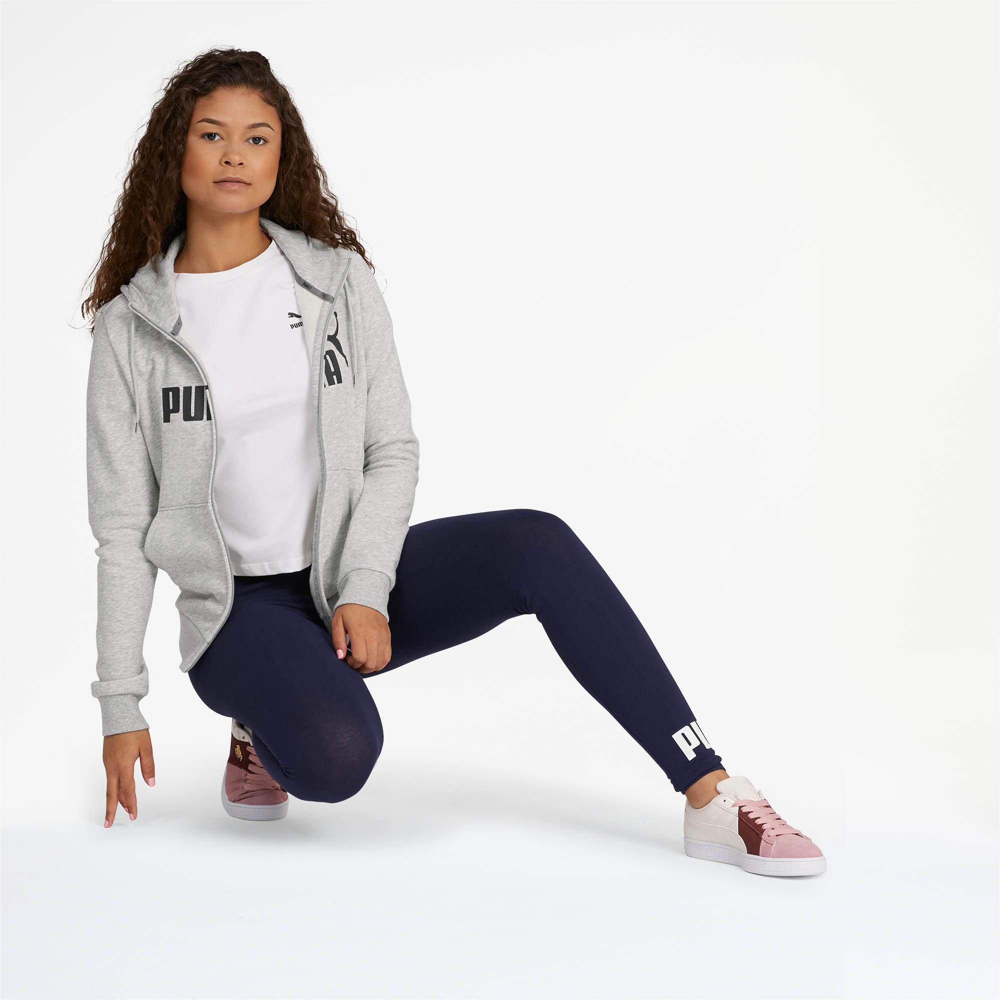 PUMA-Women-039-s-Essential-Fleece-Hooded-Jacket-Women-Sweat-Basics thumbnail 12