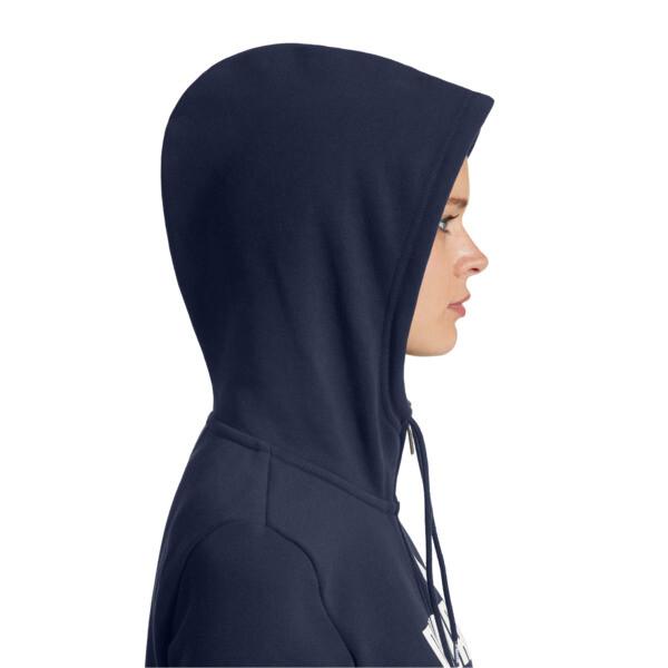 Women's Essential Fleece Hooded Jacket, Peacoat, large