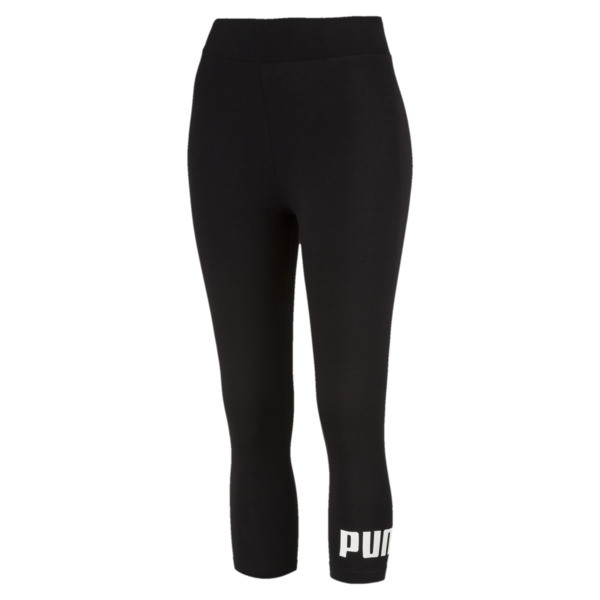 Essentials 3/4 Women's Leggings, Cotton Black, large